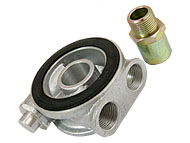 Oil cooler take off adapter with built in Oil-Thermostat (Rover K-series)